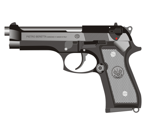 Handgun transparent background png. Beretta pistol gun