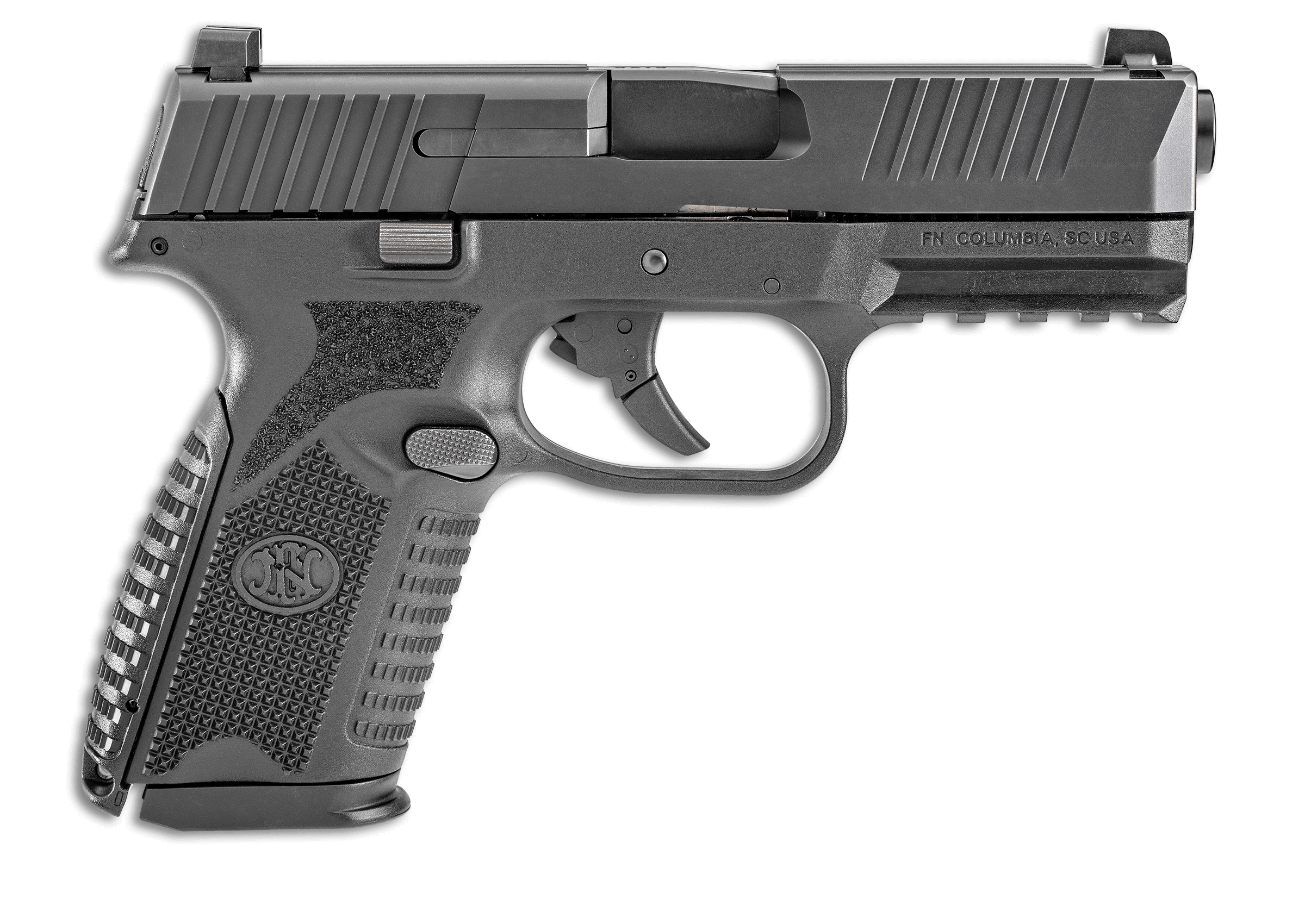 Weapon clip pistol. Police magazine fn expands