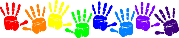 Handprint border panda free. Frame clipart hand picture free stock