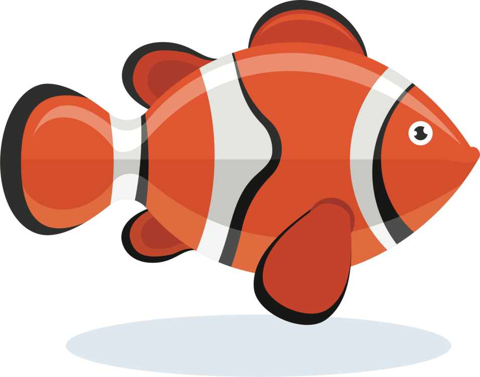 Handprint drawing clown fish. Clownfish istock free commercial