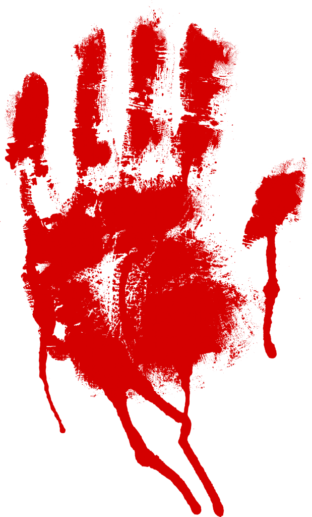 Handprint transparent svg. Red bloody png