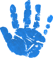 Handprint transparent blue. Tips and techniques for