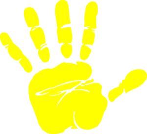 Handprint transparent clipart. Collection of free colure