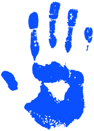 Handprint transparent digital. Tags portion toppng blue
