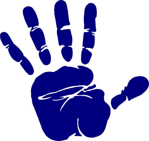Handprint transparent digital. Border jpg library