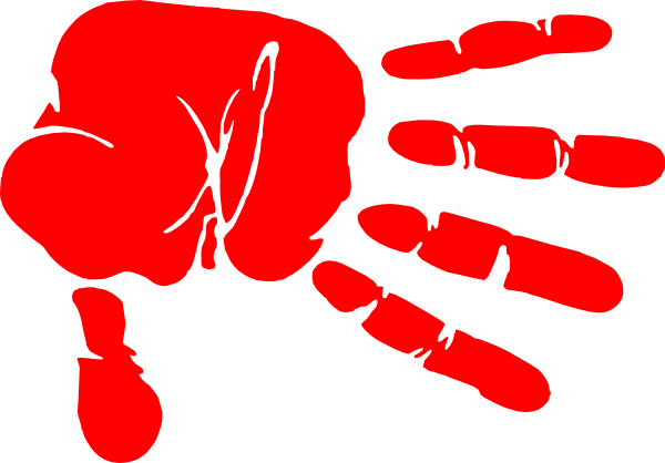 Clipart large hand cute. Handprint transparent red vector royalty free download