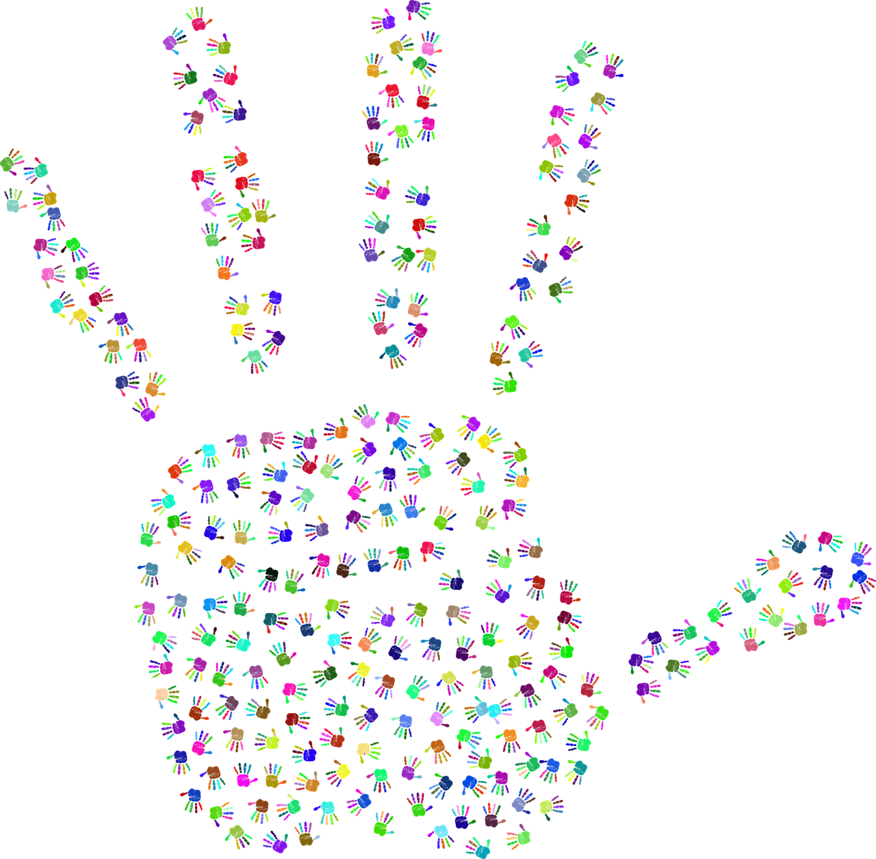 Handprint transparent digital. Hands fingers human image