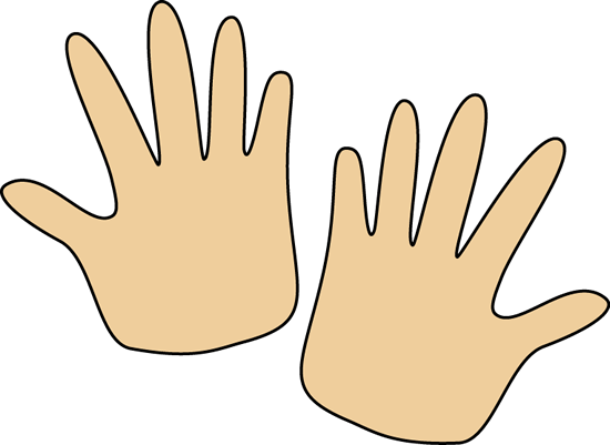 Hands clipart. Pair of