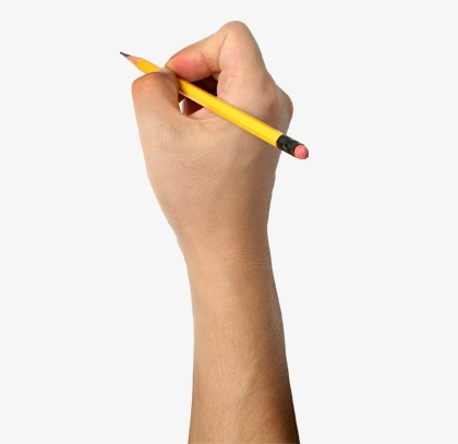 Hands clipart pencil. Holding a hand png