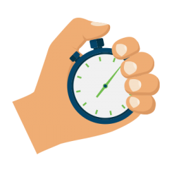 Hands clipart stopwatch. Commute by rail let