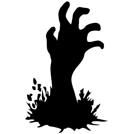 Hands clipart zombie. Black and white hand