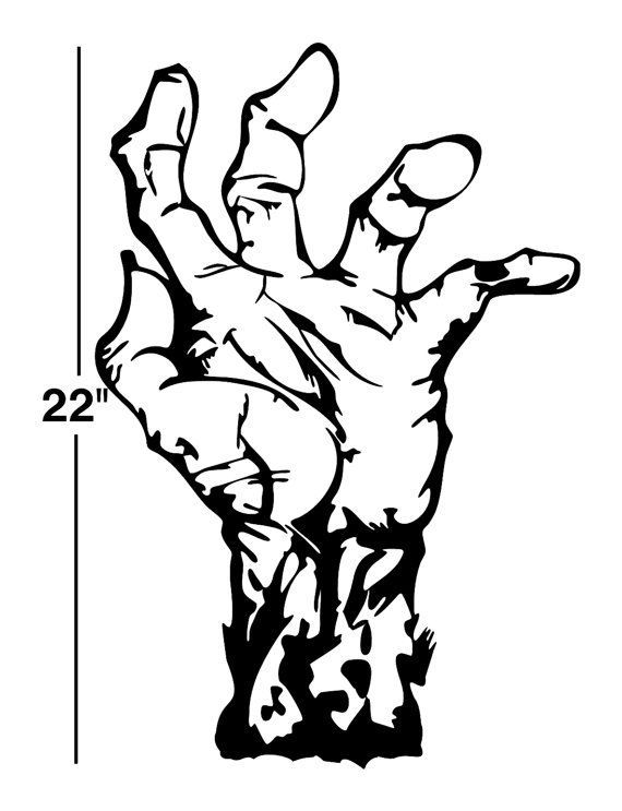 Hands clipart zombie. Image result for silhouettes