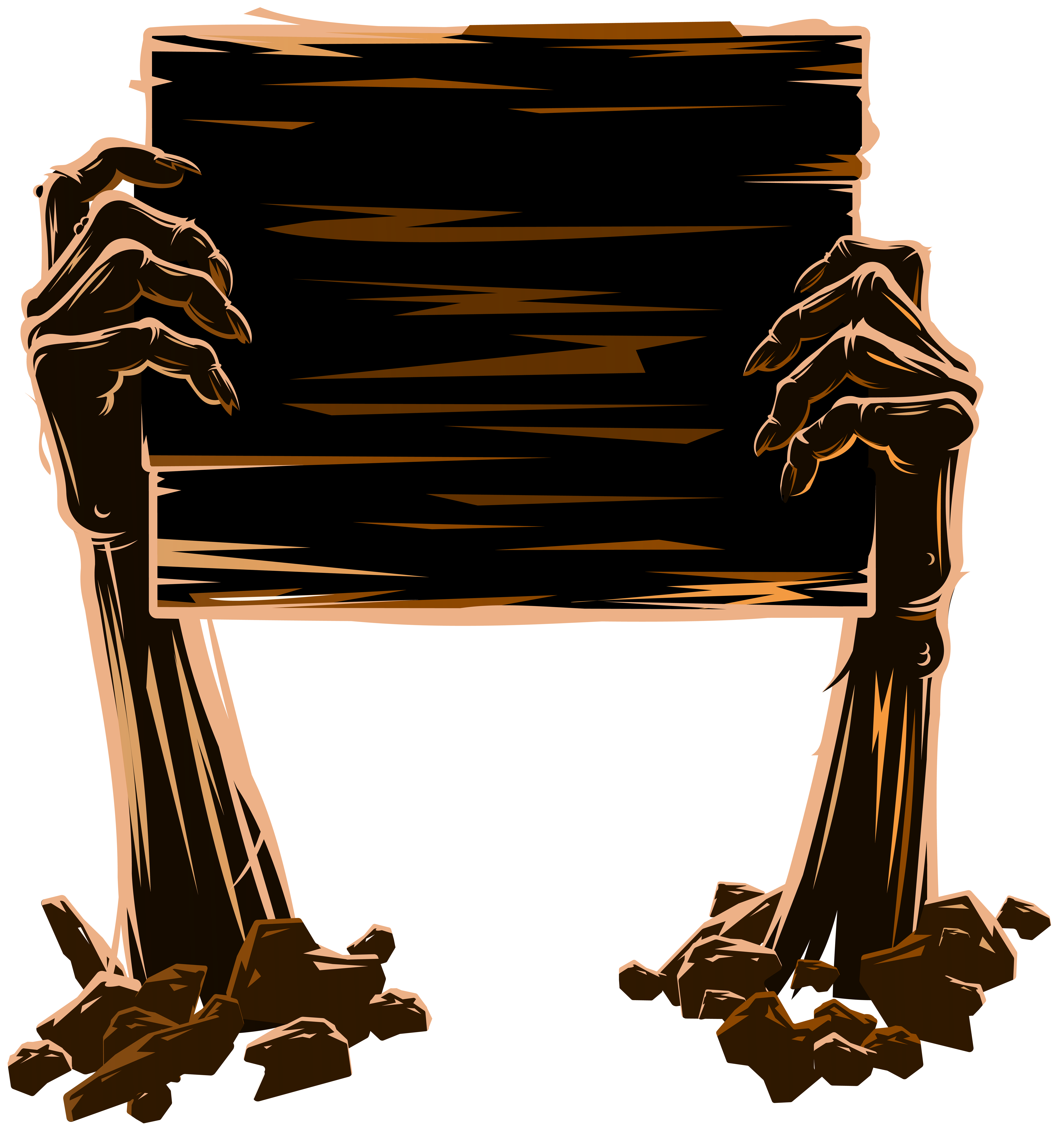 Zombie hands png. Holding board clip art