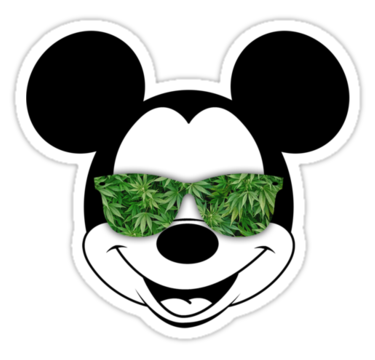 Hands mickey mouse weed png. With shades sticker pixels