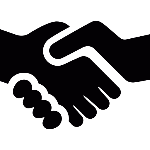 Hands shaking icon png. Hand shake repo free