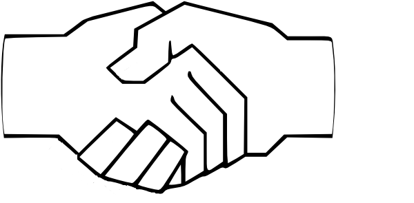 Handshake clipart. Simple clip art at