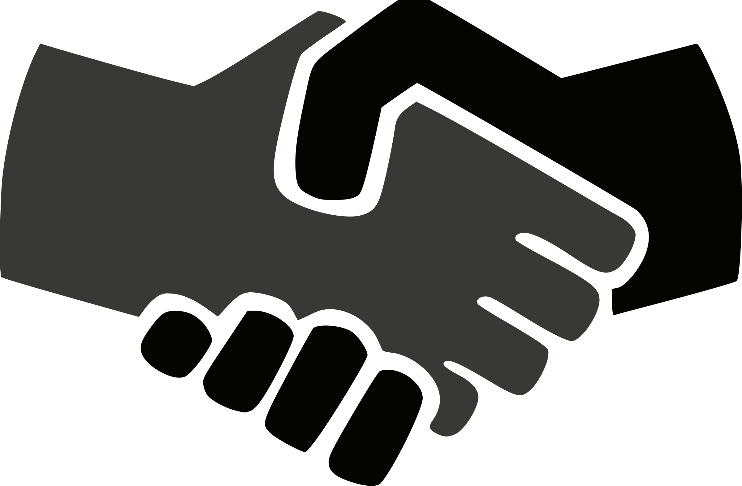 Handshake clipart. Black and white big
