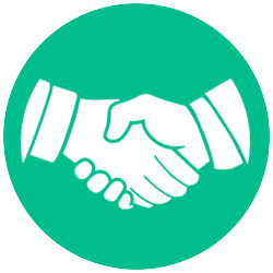 Handshake clipart business meeting. Free trust icon png