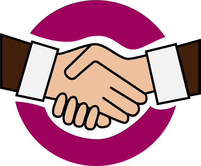 Handshake clipart great compromise. Cilpart pretentious a icon