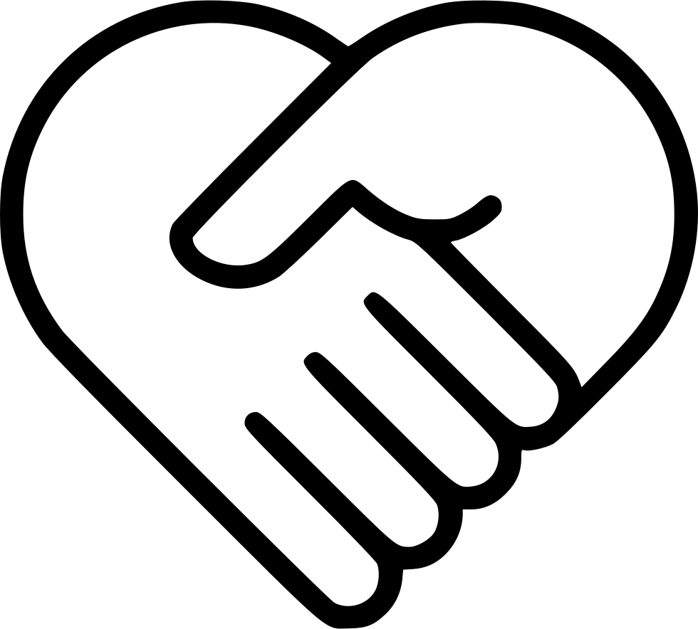 Handshake clipart heart. Medicine health care svg