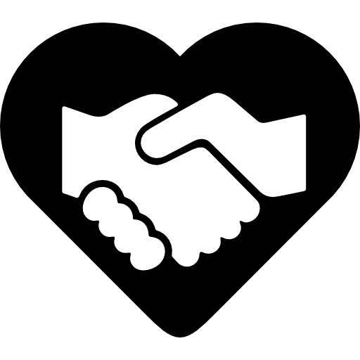 Handshake clipart heart. Free gestures icons icon