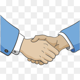 Handshake clipart holding hands. Cooperation png vectors psd