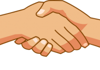 Handshake clipart holding hands. Clip art praying banner