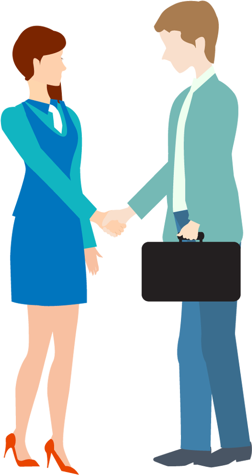 Handshake clipart man woman. Download cartoon business and