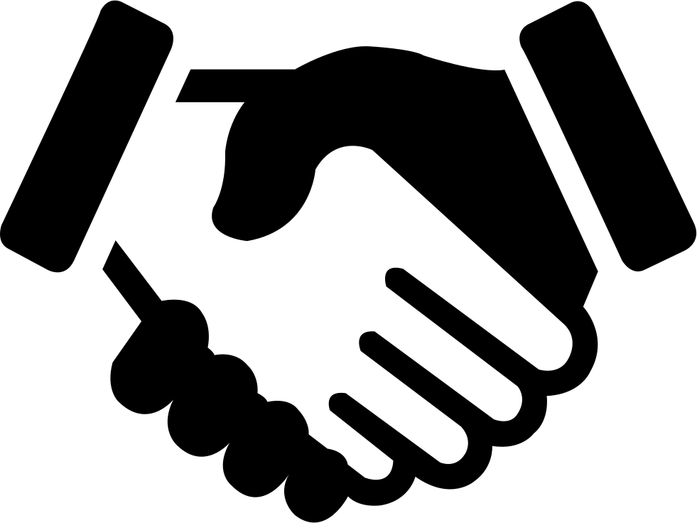Handshake clipart teamwork. Free cooperation icon download