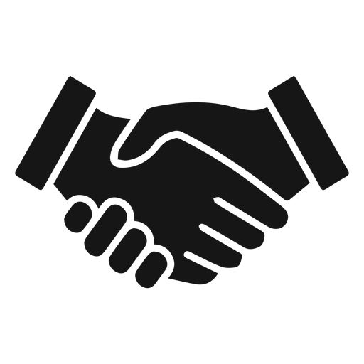 Handshake vector png. Silhouette icon transparent svg