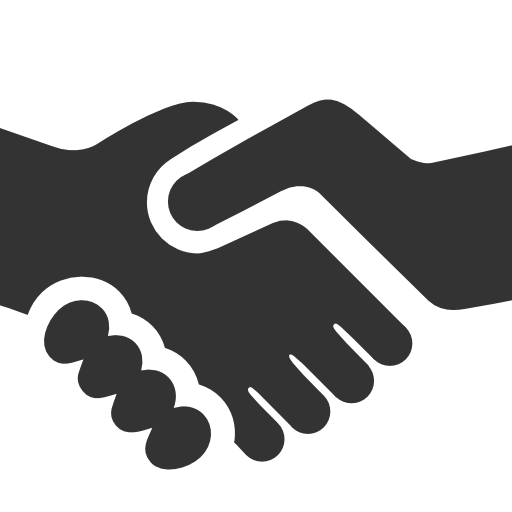 Handshake png icon. Black free icons and
