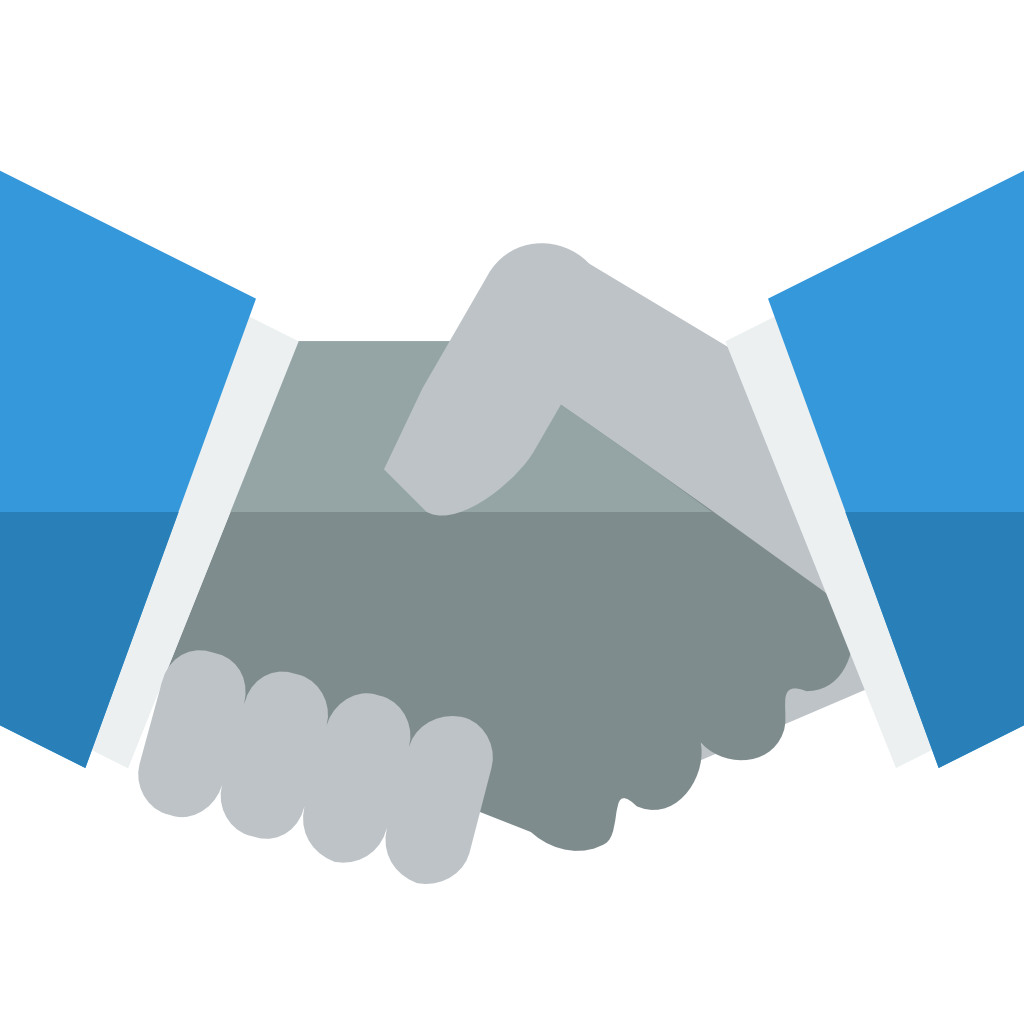 Handshake png icon. Small flat iconset paomedia