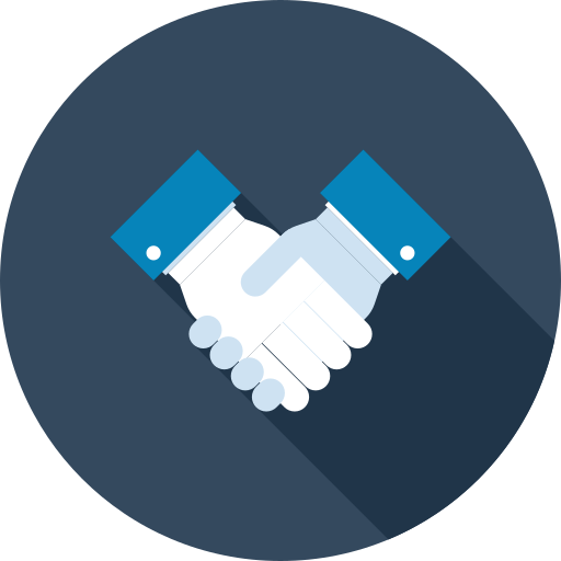 Handshake vector png. Icon free of business