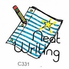 Handwriting clipart. Neat writings and essays