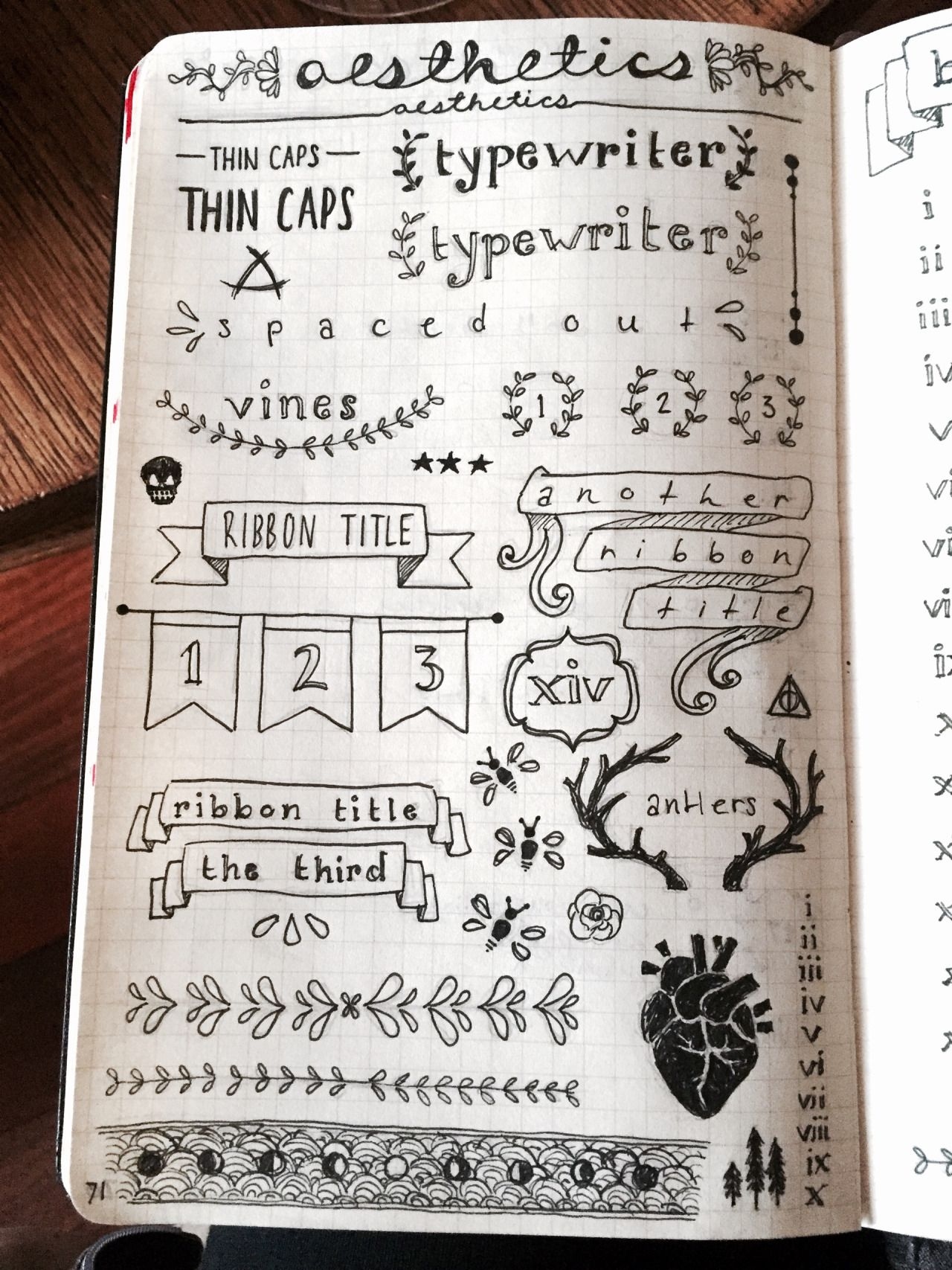 Handwriting clipart contents page. Bullet journal pinterest journals