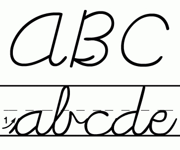 Handwriting clipart cursive. Cool of letter master