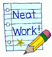 Handwriting clipart neatly. Neat letters with