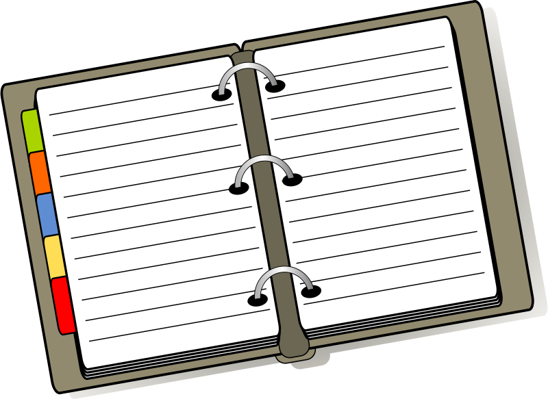 Handwriting clipart planner. Free cliparts download clip