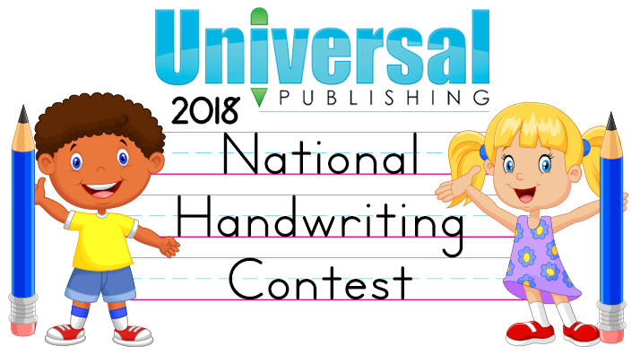Handwriting clipart registration. National contest universal