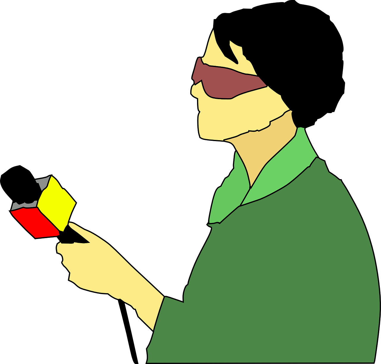 Handwriting clipart reporter. When is a journalist