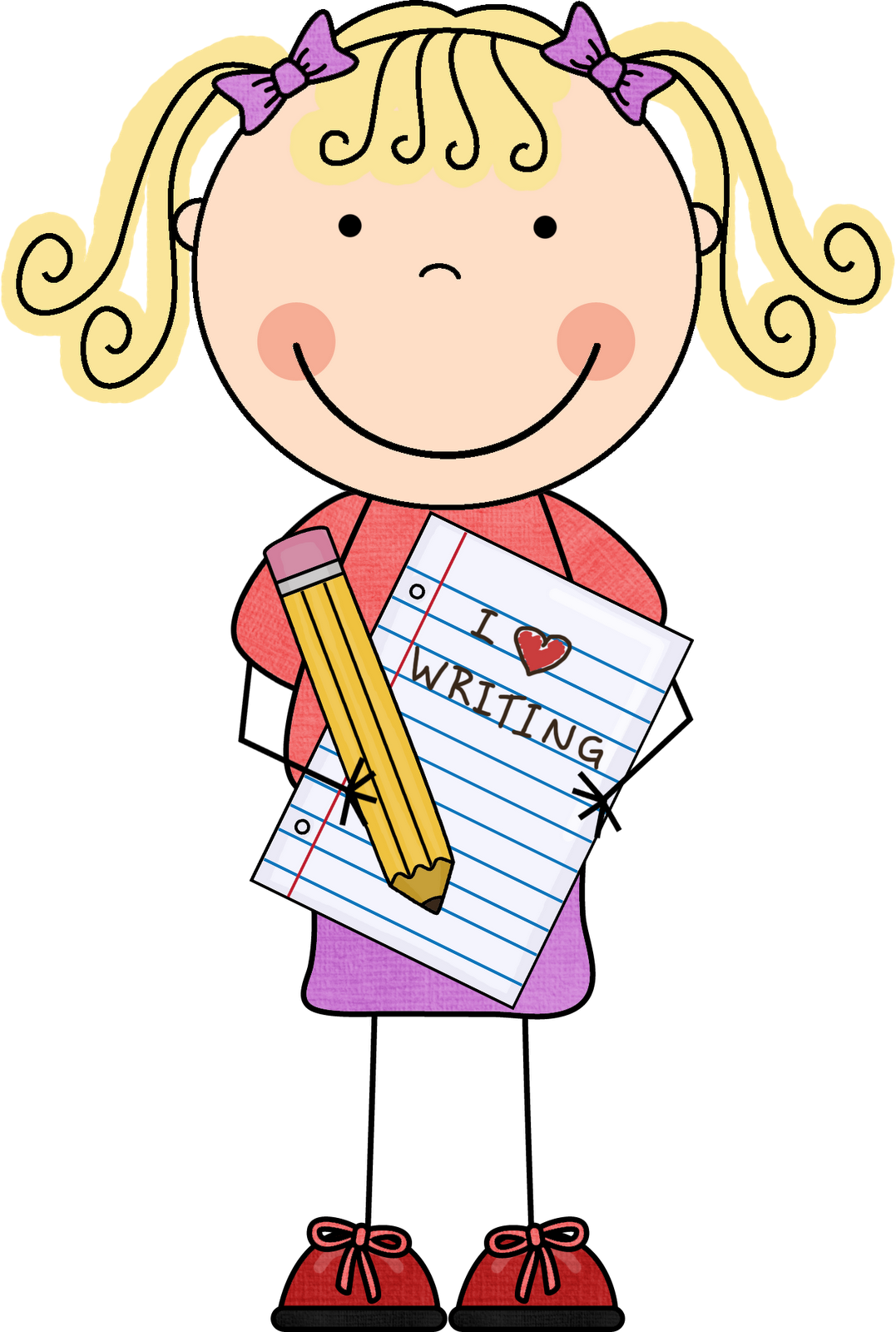 Writing clipart homework. Handwriting clip art panda