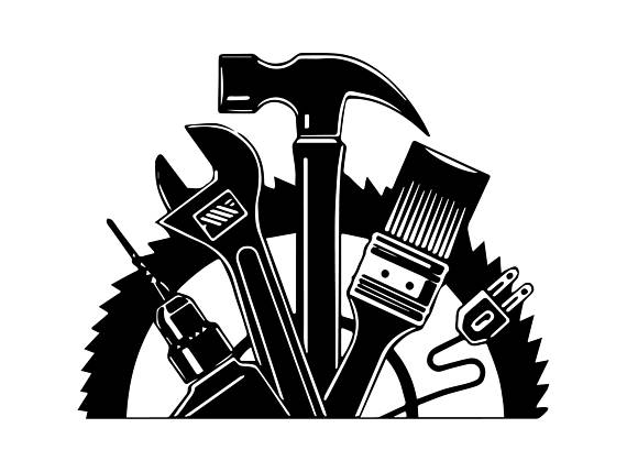Handyman clipart hardware item. Wrench hammer screwdriver repair