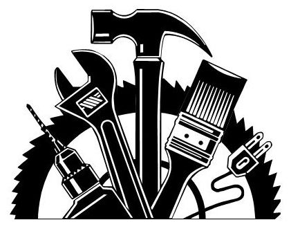 Handyman clipart hardware store. Black and white clipartfox