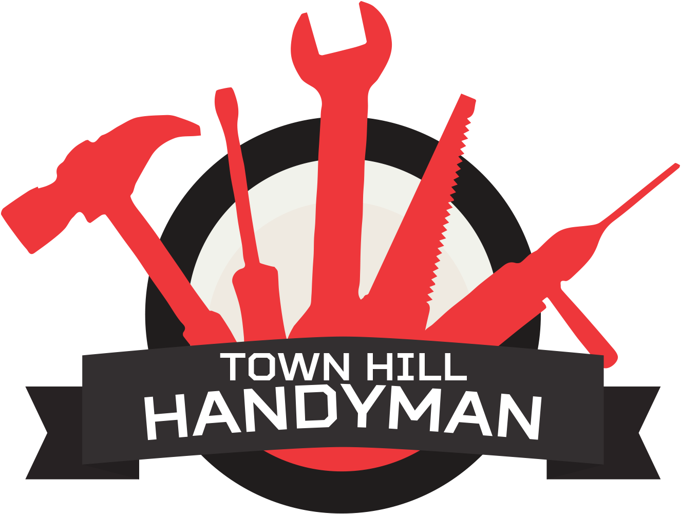Handyman clipart hardware store. Town hill home repairs