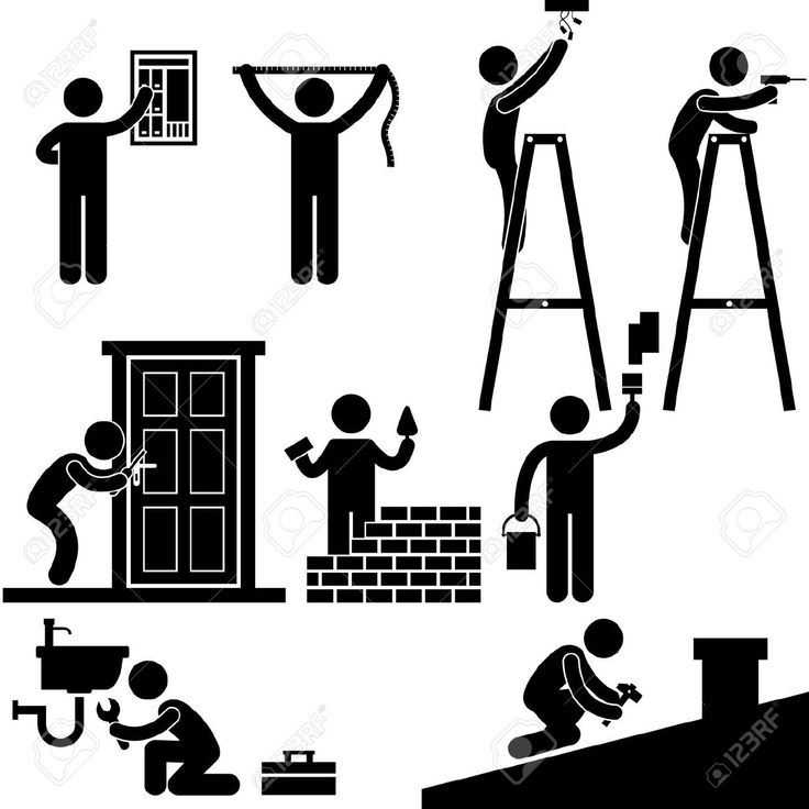Handyman clipart office renovation. Best images on