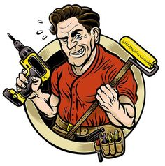 Handyman clipart office renovation. Iclipart downloadable royalty free
