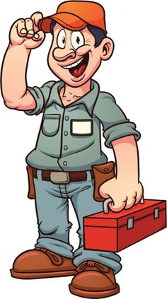 Handyman clipart pool maintenance. Carpenter or illustration by
