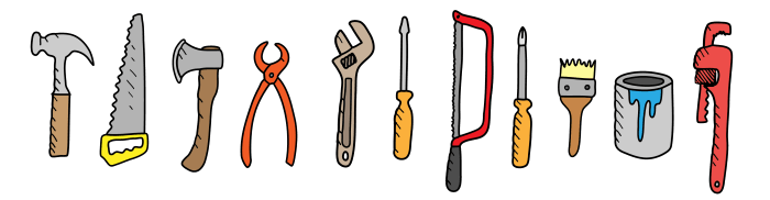 Handyman tools png. Why hire a local