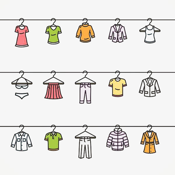 Hanger clipart fashion. Simple hand painted clothing