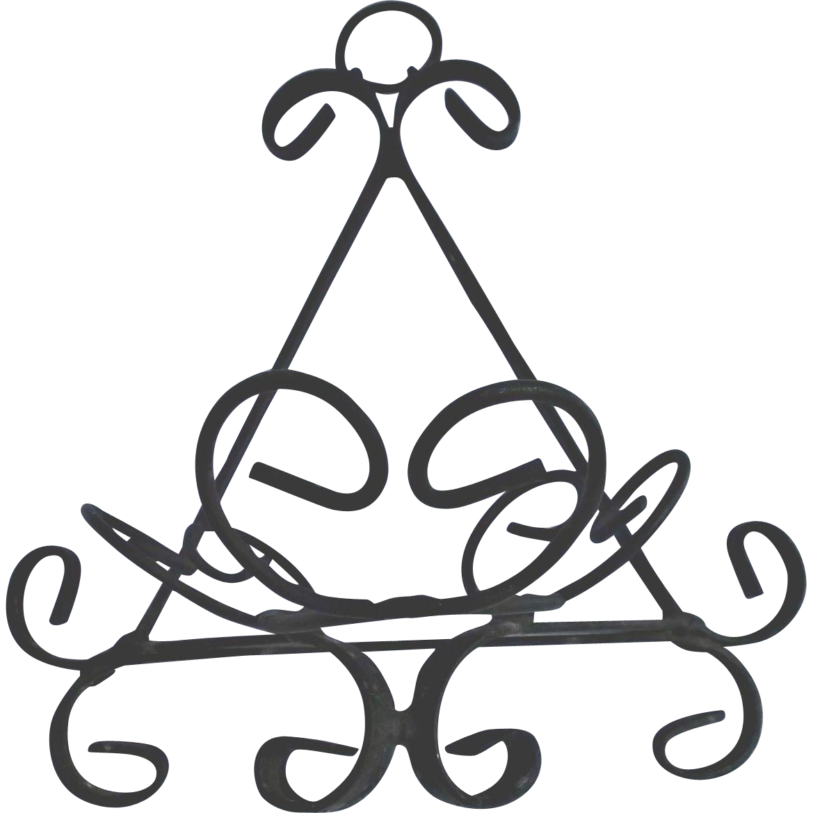 Hanger clipart vintage. Forged wrought iron for